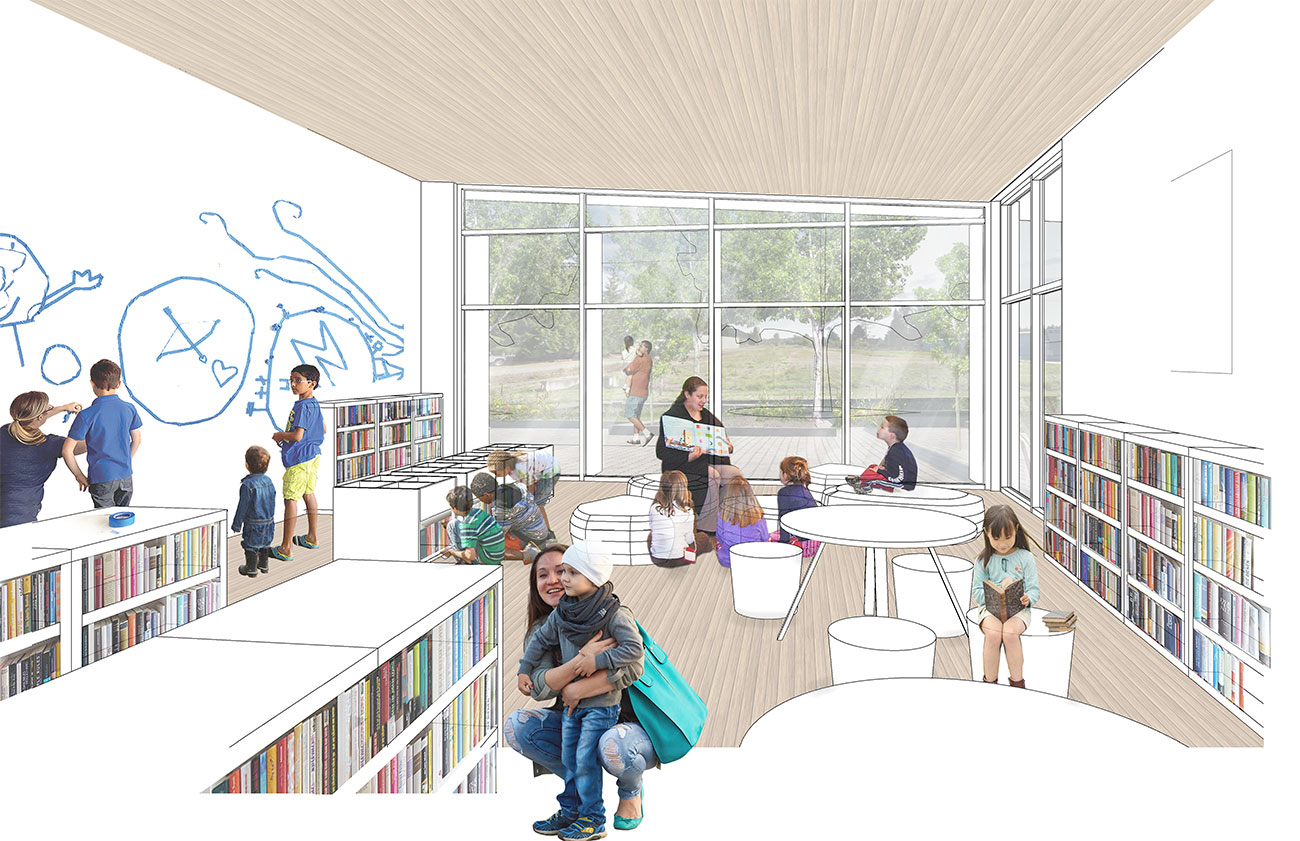 New Sequim Library View of Children's Space