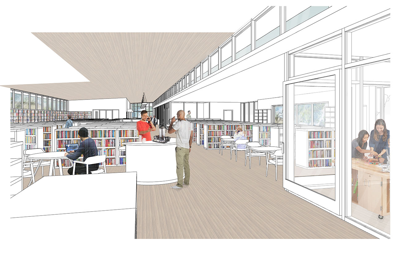 New Sequim Library View of Interior Entry