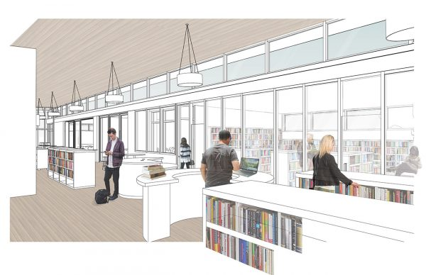 New Sequim Library View of Quiet Reading