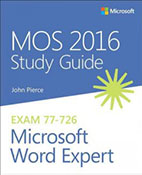 MOS 2016 Study Guide Microsoft Word Expert