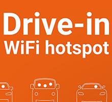 Drive-in WiFi hotspot